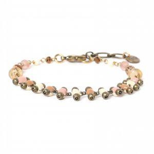 COMPLICES-NINA bracelet chaîne rose pâle