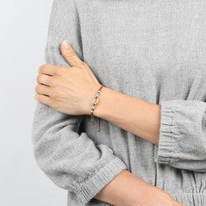 COMPLICES-ELSA bracelet macramé & caurie