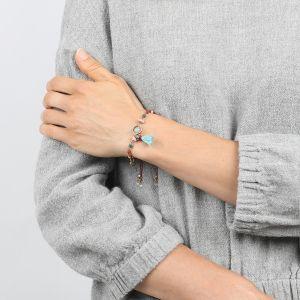 COMPLICES-ELSA  bracelet macramé petit pompon