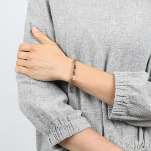 COMPLICES-ELSA bracelet macramé 3 rangs