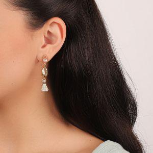 CAMILLE boucles d'oreilles caurie métal
