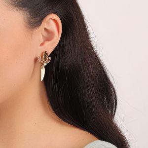 CAMILLE boucles d'oreilles multistrass & grigri