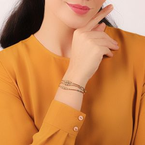 EMMA bracelet 3 rangs gradués