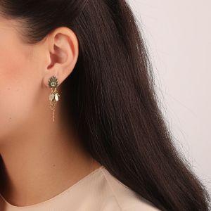 LEELOU petites boucles d'oreilles multipampilles