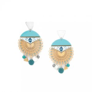 MELISSA boucles d'oreilles triangle & multistrass