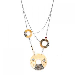 LAUREN collier court 3 anneaux