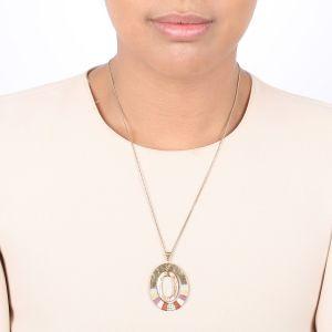 DEBORAH collier simple pendentif anneau