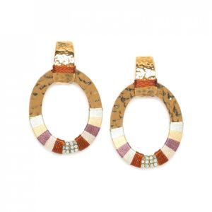 DEBORAH  boucles ovales anneaux tissés