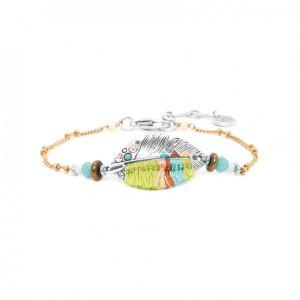 LEXIE bracelet chaine plume tissée