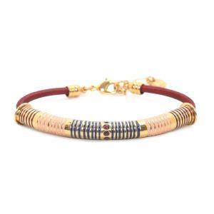 BELLA bracelet rayures émail