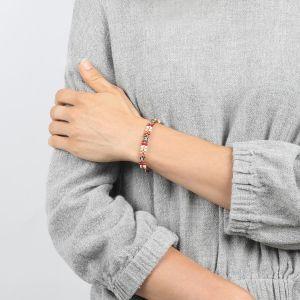 COMPLICES-JANNA bracelet perles et strass fermoir bouton