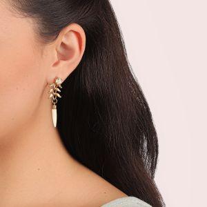CAMILLE boucles d'oreilles grigri croc
