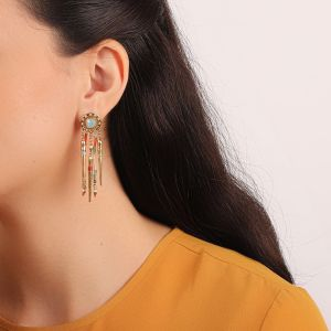 EMMA boucles d'oreilles 5 rangs