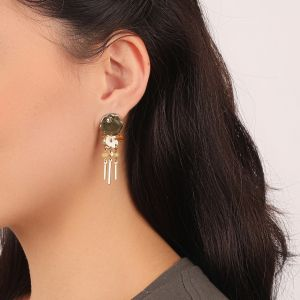 AMANDINE boucles d'oreilles 3 rangs