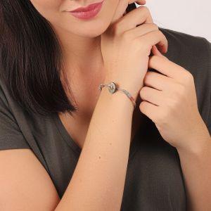 DANNIE bracelet fermoir bouton Nacre