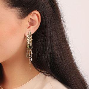 LEELOU boucles d'oreilles multichaines