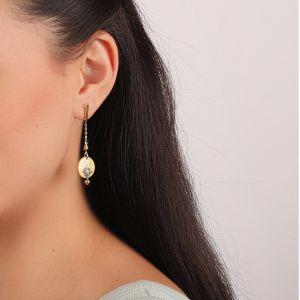 LAUREN boucles d'oreilles tige & chaine
