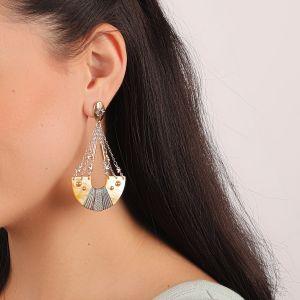 LAUREN boucles d'oreilles demi-lune