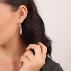 KATY boucles d'oreilles mini strass & cristal