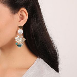MELISSA boucles d'oreilles disque Nacre