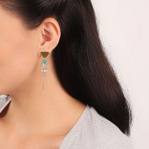 MELISSA boucles d'oreilles triangle & pompon