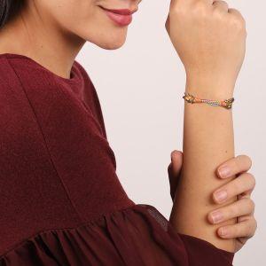 KORALIE bracelet cordon & chaines