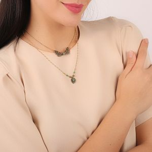 LEELOU 2 in 1 necklace