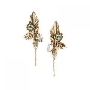 LEELOU boucles d'oreilles 3 feuilles