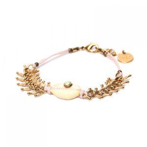 CAMILLE bracelet chaine épi & caurie