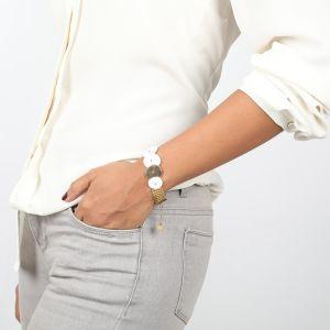 APRIL bracelet chaine plate & Nacre