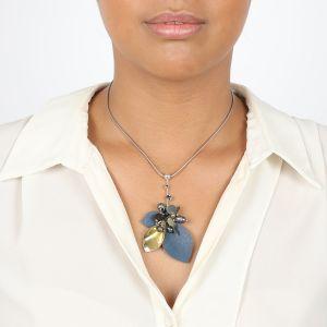 ALICE collier petit modèle en cuir & perle de culture