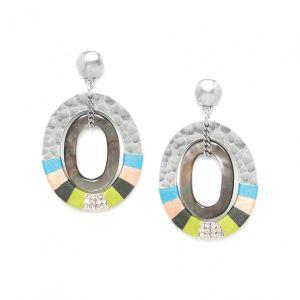 CLOE  boucles poussoir 2 anneaux combinés