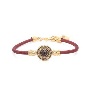BELLA bracelet fin bordeaux