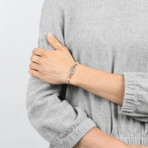 COMPLICES-NINA bracelet plume rose pâle