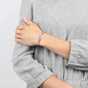 COMPLICES-JANNA bracelet macramé coquillage métal argenté