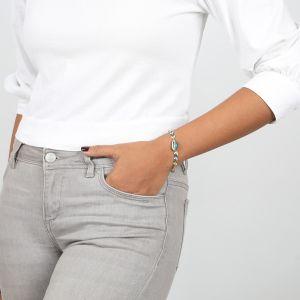 GABBY bracelet fin chaine émaillée
