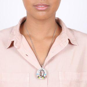 CLOE collier simple pendentif anneau