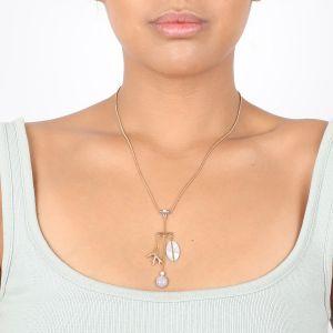 KIM 3-dangle necklace