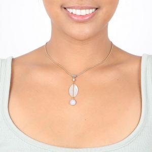 KIM MOP & chalcedony necklace