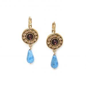 BELLA french hooks w/lapis-lazuli drop