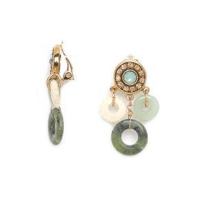 SOLENE boucles clips 3 anneaux