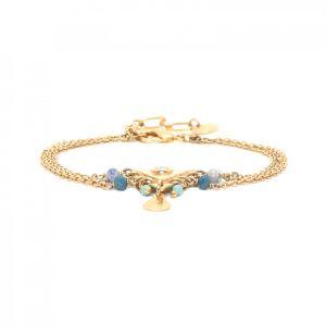 ELISA 3-row bracelet w/triangular center