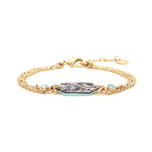 ELISA 3-chain bracelet w/paua center