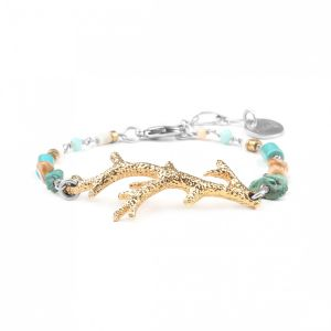 NAHIA large coral branch bracelet
