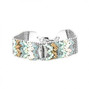 NAHIA bracelet chaine large tissée