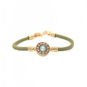SOLENE sandow bracelet w/crystalized center