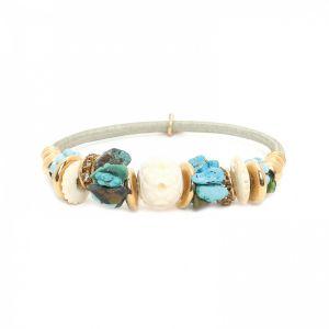 SOLENE beaded sandow bracelet