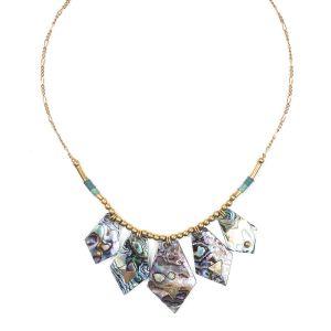 ELISA collier plastron Abalone