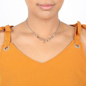 NAHIA collar fino rama coral dorado