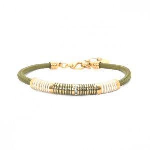 SOLENE bracelet rayures émail